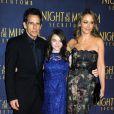 Ben Stiller, Ella Stiller et Christine Taylor à la première de La Nuit au Musée 3 : Le Secret des Pharaons au Ziegfeld Theater, New York, le 11 décembre 2014.