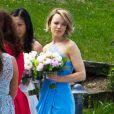 Exclusif - Rachel McAdams, demoiselle d'honneur, au mariage de sa soeur Kayleen à Muskoka au Canada, le 24 mai 2015