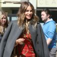 "Sofia Vergara quitte les studios de l'émission TV ""The Elle DeGeneres Show"" à New York. Le 4 mai 2015"