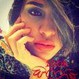 Leila Ben Khalifa remercie ses 100 000 followers. Mai 2015.