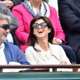William Lowenstein (président de l'association SOS Addictions) et Caroline Barclay lors des Internationaux de France à Roland-Garros à Paris le 28 mai 2015 à Paris