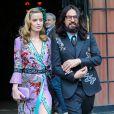 Georgia May Jagger et Alessandro Michele sortant de l'hôtel pour se rendre à la soirée Costume Institute Gala 2015 au Metropolitan Museum à New York, le 4 mai 2015