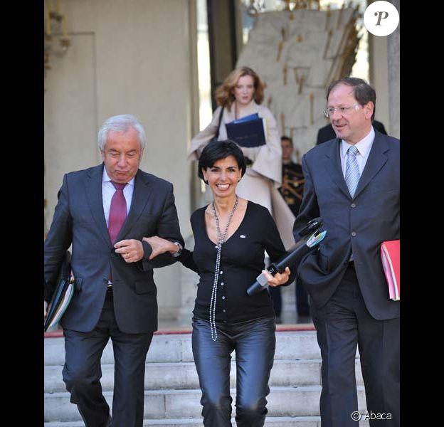 Rachida Dati à la sortie du conseil des ministres, le 26/09/08