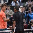 Jo-Wilfried Tsonga contre Tomas Berdych à Roland-Garros à Paris, le 31 mai 2015.