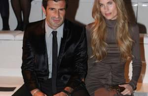 REPORTAGE PHOTOS : Luis Figo et sa femme, un couple glamour au défilé de Donatella Versace !