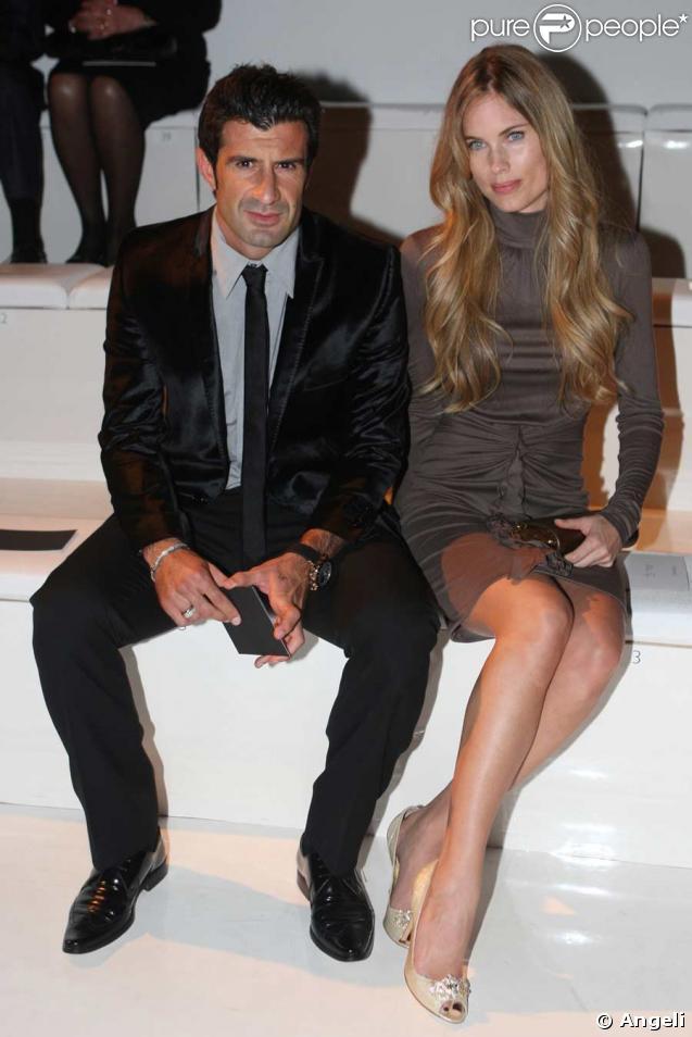 Défilé Versace : Luis Figo et sa femme