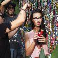 """Adriana Lima pose pour la nouvelle campagne """"Vogue Eyewear""""  à Rio de Janeiro, le 3 juin 2015."""