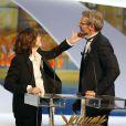 Jane Birkin et Lambert Wilson - Cérémonie de clôture du 68e Festival de Cannes, le 24 mai 2015.