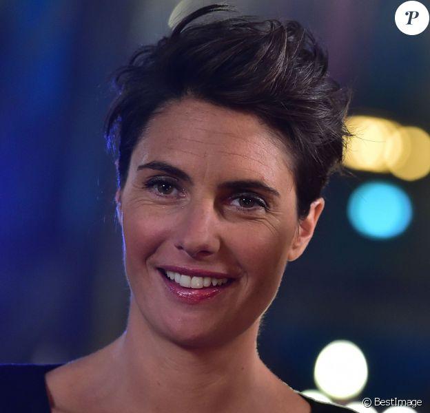 Exclusif - Alessandra Sublet, à l'enregistrement de l'émission La Télé Chante Pour le Sidaction aux théâtre des Folies Bergère à Paris, le 11 mars 2015.