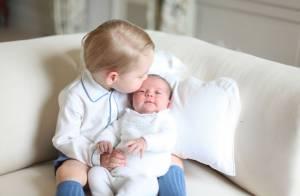 Charlotte dans les bras de George, de tendres premières photos signées Kate