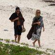 La belle Heidi Klum et Vito Schnabel en vacances à la plage à Saint-Barthélémy le 31 mai 2015