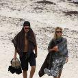 Heidi Klum et Vito Schnabel en vacances à la plage à Saint-Barthélémy le 31 mai 2015
