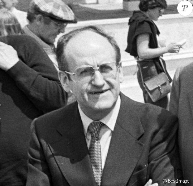Jean Gruault, Alain Resnais, Nicole Garcia, Roger Pierre lors de la présentation de Mon Oncle d'Amérique au Festival de Cannes 1980
