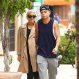Ashlee Simpson, très enceinte, et son mari Evan Ross à la sortie de leur cours de gym à Studio City, le 13 mai 2015