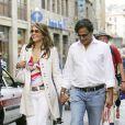 Elizabeth Hurley et son ex-mari Arun Nayar à Florence le 19 mai 2007