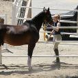 Iggy Azalea fait de l'équitation à Los Angeles, le 16 juin 2015.