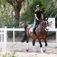 Exclusif - Iggy Azalea fait de l'équitation à Calabasas, le 4 juin 2015.