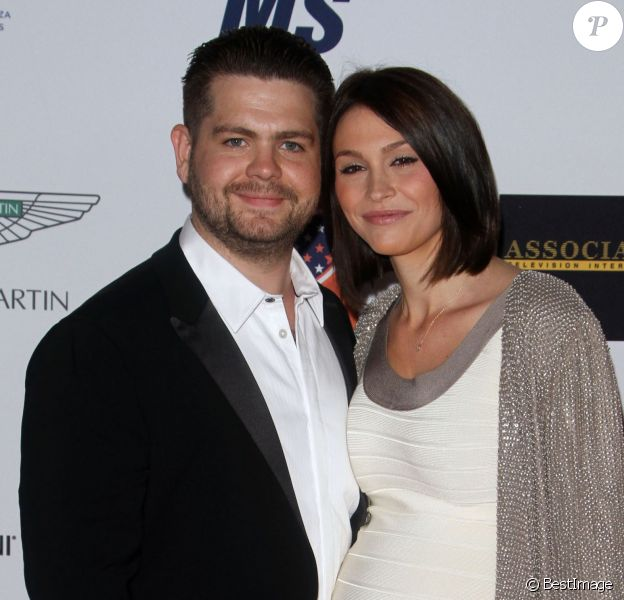 Jack Osbourne, sa femme Lisa Stelly enceinte - 22e cérémonie annuelle Race To Erace MS à Century City, le 24 avril 2015.