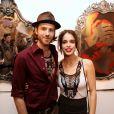 """Chelsea Tyler et son compagnon Jon Foster au vernissage de l'exposition """"KINK"""" de Mia Tyler à Miami, le 6 décembre 2013."""
