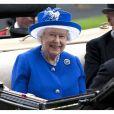"""La reine Elisabeth II d'Angleterre - La famille royale d'Angleterre à la course hippique """"Royal Ascot"""". Le 17 juin 2015"""