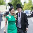 """Tony Mccoy et sa femme Chanelle McCoy - Course hippique """"Royal Ascot 2015"""", le 16 juin 2015."""