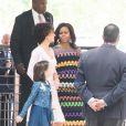 La première dame des Etats-Unis Michelle Obama visite avec Agnese Landini Renzi, la femme du premier ministre italien Matteo Renzi et sa fille Ester Renzi l'Exposition Universelle 2015 à Milan, le 18 juin 2015.