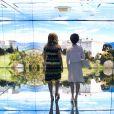 La première dame des Etats-Unis Michelle Obama visite avec Agnese Landini Renzi, la femme du premier ministre italien Matteo Renzi et sa fille Ester Renzi l'Exposition Universelle 2015 à Milan, le 18 juin 2015