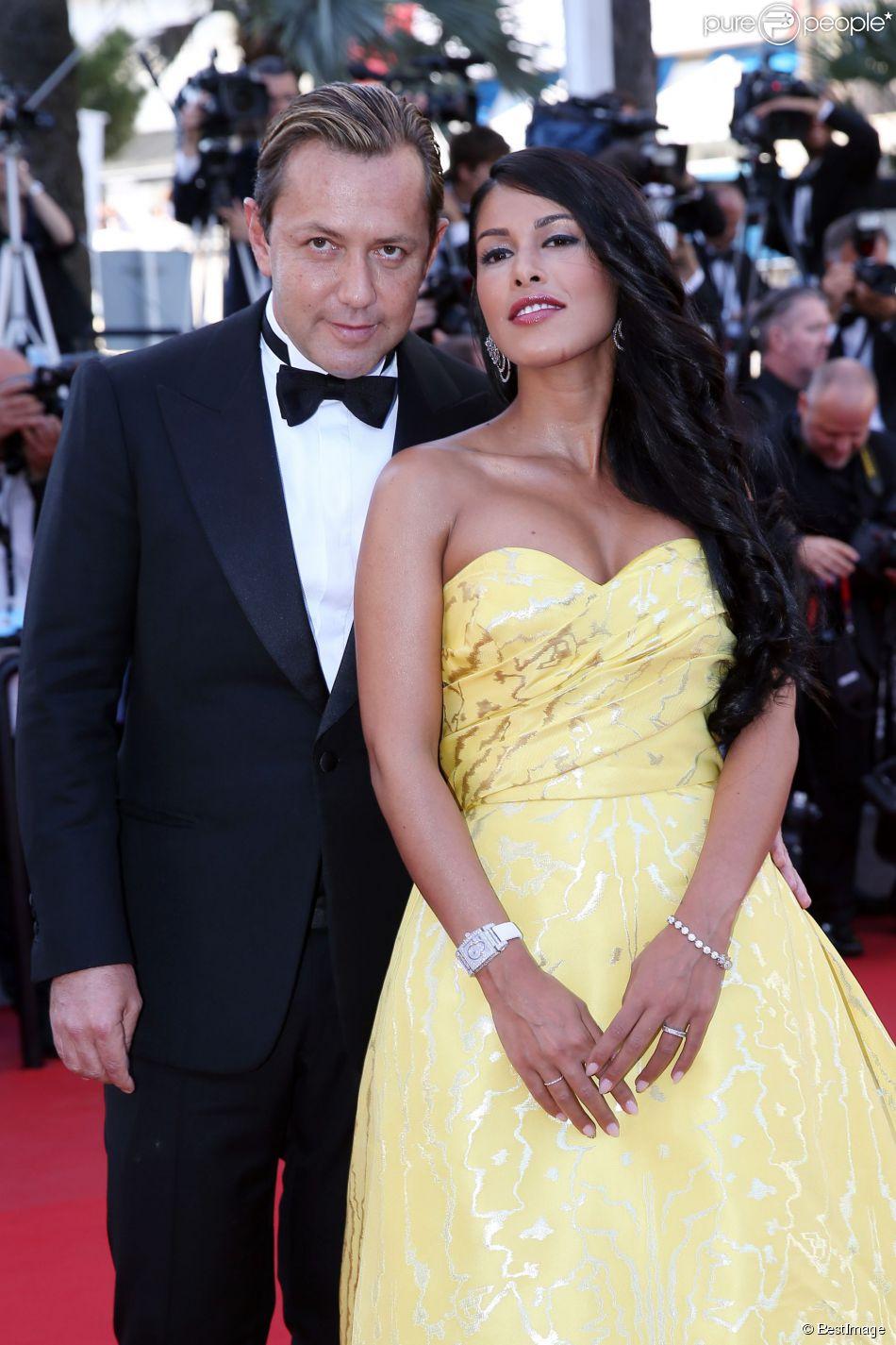 """Ayem Nour et son compagnon Vincent Miclet - Montée des marches du film """"Inside Out"""" (Vice-Versa) lors du 68e Festival International du Film de Cannes, à Cannes le 18 mai 2015."""