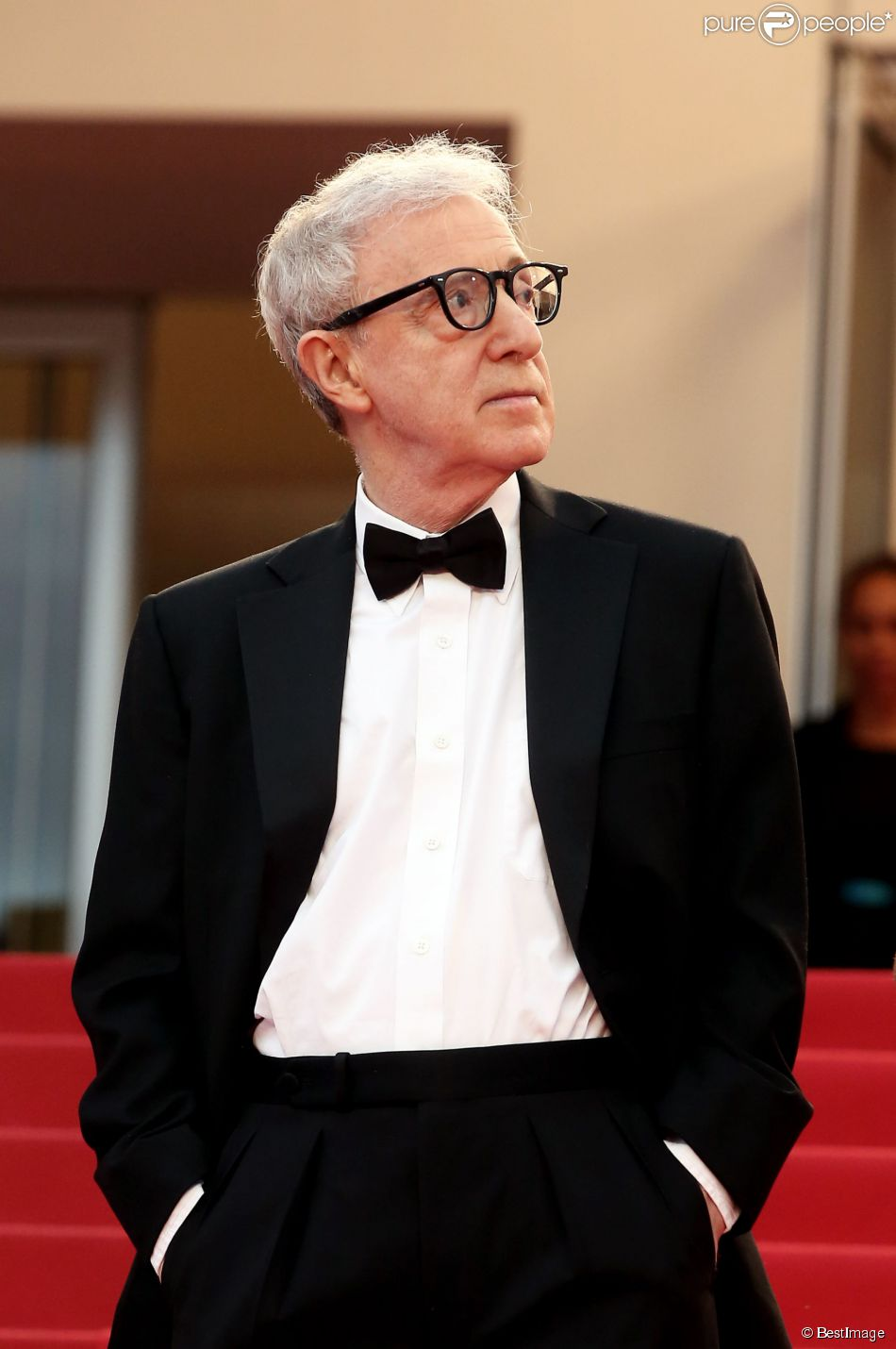 "Woody Allen - Montée des marches du film ""Irrational Man"" (L'homme irrationnel) lors du 68e Festival International du Film de Cannes, à Cannes le 15 mai 2015."