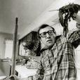 Woody Allen sur le tournage d'Annie Hall en 1977.