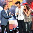 Exclusif - Le chanteur Mika et la chanteuse Zazie, dans les arènes de Nîmes à l'occasion de la spéciale Fête de la musique de l'émission La Chanson de l'année sur TF1, le samedi 20 juin 2015.