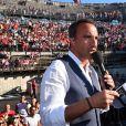 Exclusif - Nikos Aliagas, dans les arènes de Nîmes à l'occasion de la spéciale Fête de la musique de l'émission  La Chanson de l'année  sur TF1, le samedi 20 juin 2015.