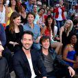 Exclusif - Emmanuel Moire et Thomas Dutronc, Christine and The Queens, le chanteur Raphaël, la chanteuse Zaz et Madilyn Bailey, dans les arènes de Nîmes à l'occasion de la spéciale Fête de la musique de l'émission  La Chanson de l'année  sur TF1, le samedi 20 juin 2015.