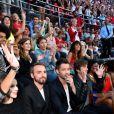 Exclusif - Marina Kaye, Christophe Willem, Emmanuel Moire et Thomas Dutronc, Christine and The Queens, le chanteur Raphaël, la chanteuse Zaz et Madilyn Bailey, dans les arènes de Nîmes à l'occasion de la spéciale Fête de la musique de l'émission  La Chanson de l'année  sur TF1, le samedi 20 juin 2015.