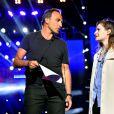 Exclusif - Nikos Aliagas pendant les répétitions avec Christine and The Queens, dans les arènes de Nîmes à l'occasion de la spéciale Fête de la musique de l'émission  La Chanson de l'année  sur TF1, le samedi 20 juin 2015.