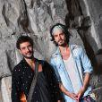 Exclusif - Le groupe Fréro Delavega (Jérémy Frérot et Florian Garcia dit Florian Delavega), dans les arènes de Nîmes pendant les répétitions de la spéciale Fête de la musique de l'émission  La Chanson de l'année  sur TF1, le samedi 20 juin 2015.