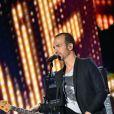 Exclusif - Le chanteur Calogero, dans les arènes de Nîmes pendant les répétitions de la spéciale Fête de la musique de l'émission  La Chanson de l'année  sur TF1, le samedi 20 juin 2015.