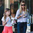 Denise Richards se rend au Starbucks avec sa fille Sam à Brentwood, le 14 janvier 2015.