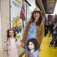 """Romane Bohringer et ses enfants Raoul et Rose - Avant première du film """"Les Minions"""" au Grand Rex à Paris le 23 juin 2015"""