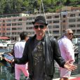 Gad Elmaleh au 20e Jumping International de Monte-Carlo au ort Hercule de Monaco à Monte-Carlo dans le cadre du Longines Global Champions Tour, le 27 juin 2015