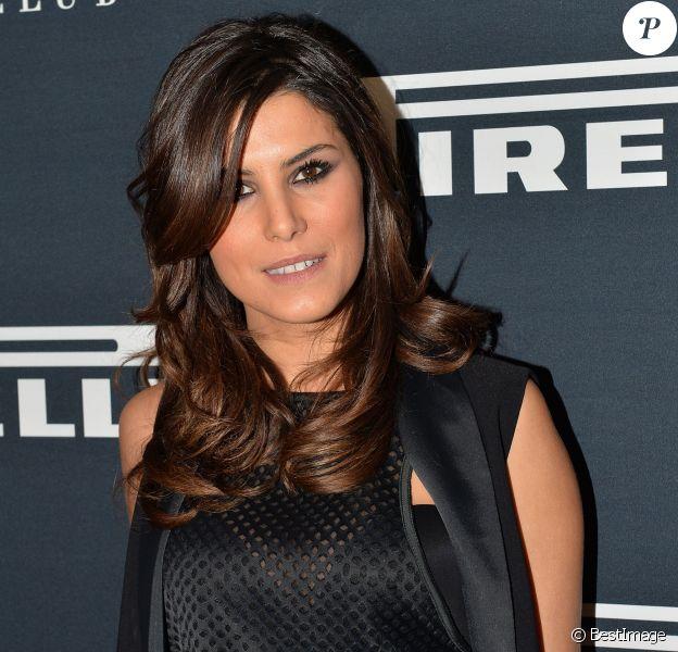 Karine Ferri, à la soirée de présentation du calendrier Pirelli 2015 au VIP Room à Paris, le 22 janvier 2015.