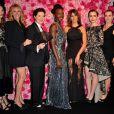 Les égéries Julia Roberts, Isabella Rossellini, Lupita Nyong'o, Penelope Cruz, Lily Collins et Kate Winslet à la soirée Lancôme le 7 juillet 2015.