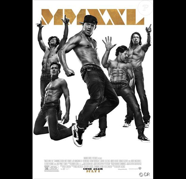 Affiche du film Magic Mike XXL en salles le 8 juillet 2015