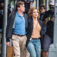 """Jennifer Lopez sur le tournage de la série """"Shades of Blue"""" à New York, le 15 juin 2015"""