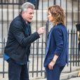 """Ray Liotta et Jennifer Lopez sur le tournage de la série """"Shades of Blue"""" à New York, le 15 juin 2015."""