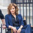 """Jennifer Lopez sur le tournage de la série """"Shades of Blue"""" à New York, le 15 juin 2015."""