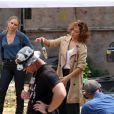 Jennifer Lopez sur le tournage de la série Shades of Blue à New York, le 7 juin 2015