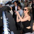 Jennifer Lawrence lors de la présentation de Hunger Games - La Révolte : Partie 2 au Comic Con de San Diego le 9 juillet 2015