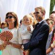La princesse Caroline de Hanovre, Sacha Casiraghi, Andrea Casiraghi, Tatiana Santo Domingo Casiraghi samedi 11 juillet 2015 lors de la célébration des 10 ans de règne du souverain monégasque.