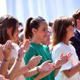 Camille Gottlieb, Pauline Ducruet, la princesse Caroline de Hanovre samedi 11 juillet 2015 lors de la célébration des 10 ans de règne du souverain monégasque.